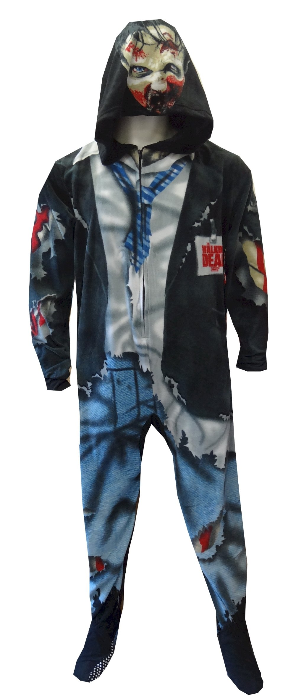 The Walking Dead Gruesome Zombie Onesie Footed Pajama for men