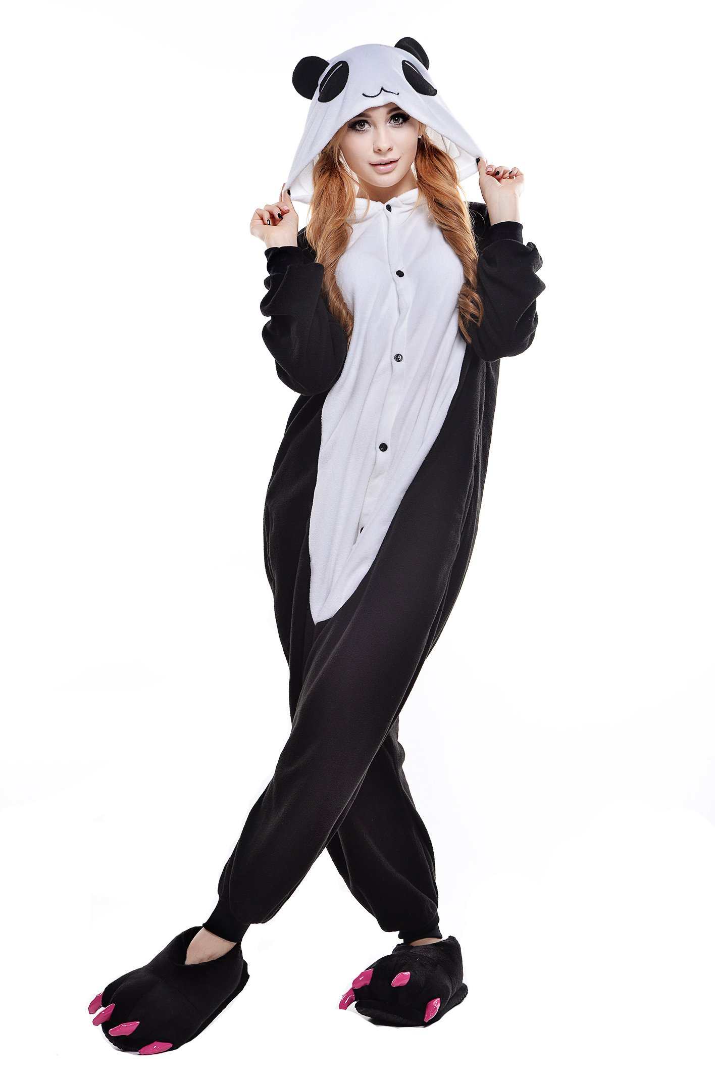 Polar Fleece Unisex Panda Pajamas Onesie