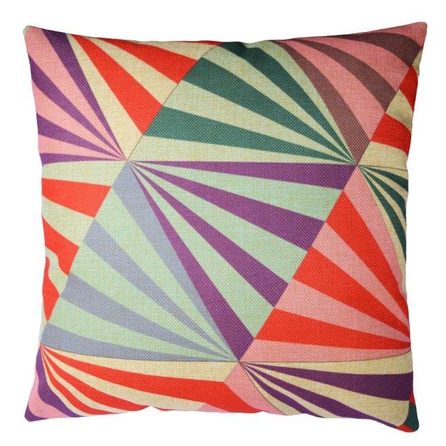 "Buankoxy Cotton Linen Square Throw Pillow Case Decorative Cushion Cover Pillowcase 18 ""X18 "" Magic Plaid"