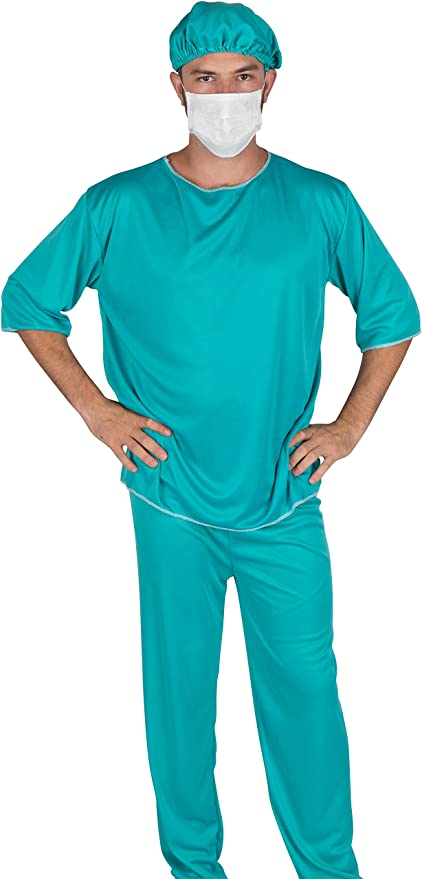 Men's Doctor Scrub Set Costume by Capital Costumes