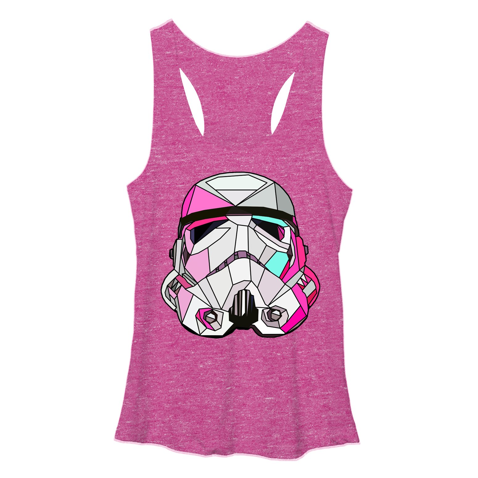 Stained Glass Stormtrooper Young Womens Racerback Tank