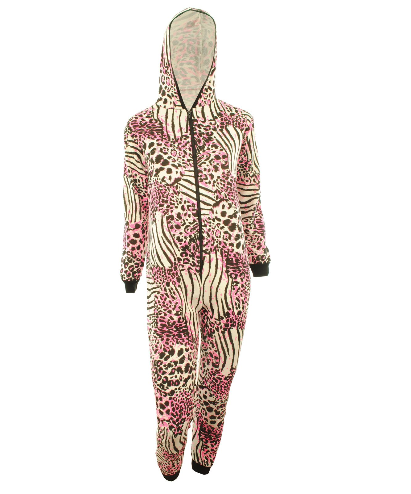 Animal Print Hooded Jumpsuit