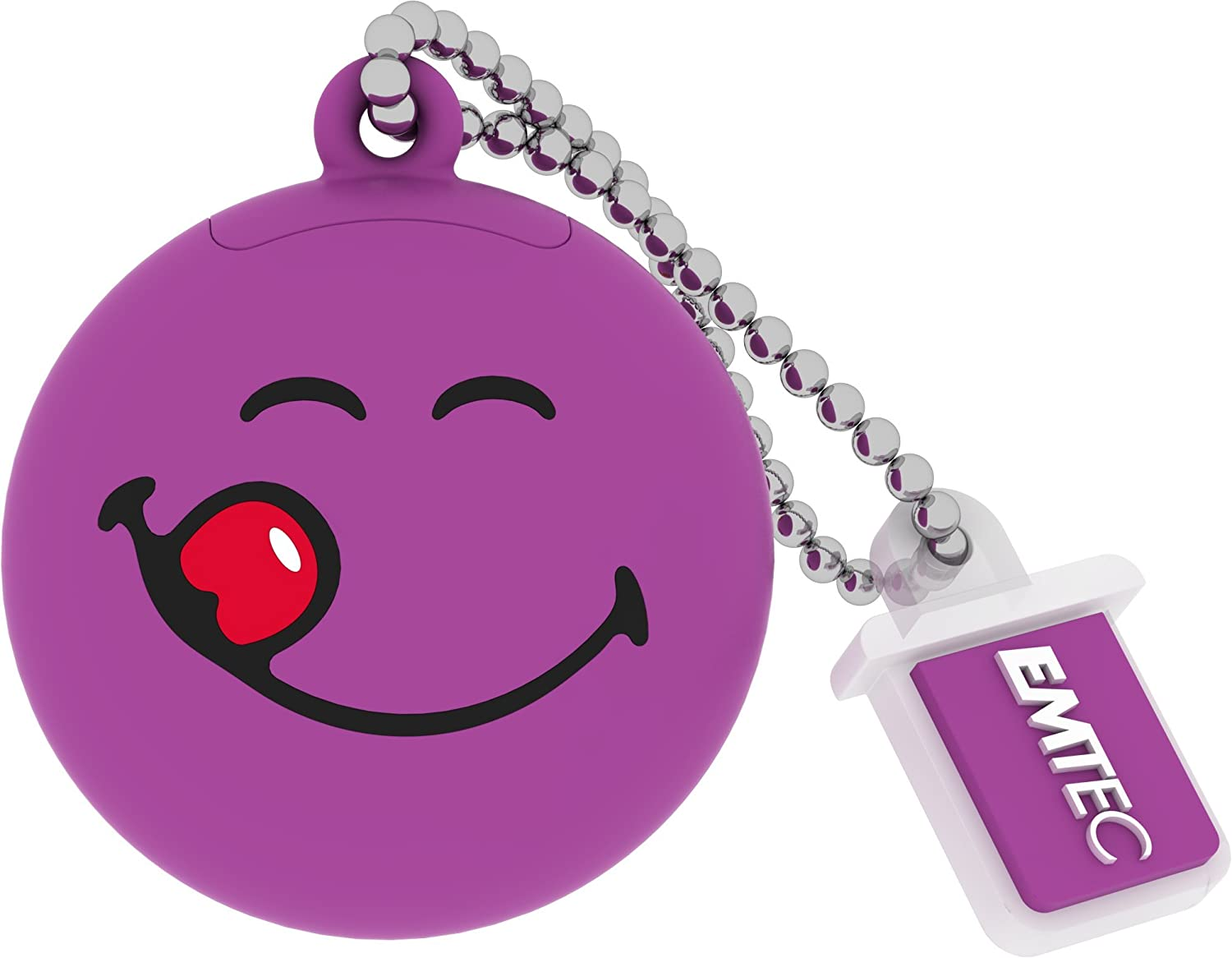 Smiley World 8 GB USB 2.0 Flash Drive, Purple
