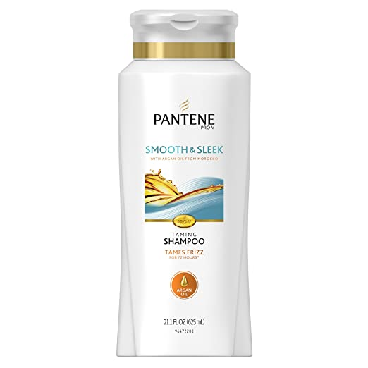 Pantene Smooth & Sleek Shampoo With Argan Oil, 21.1 Fl Oz