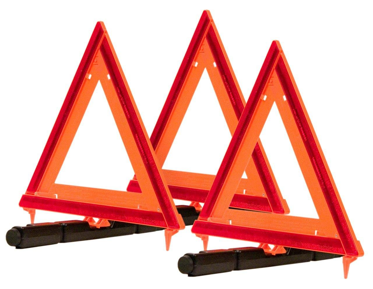 Amazon.com: Triple Warning Triangle RVs break down.. it's a given. Be prepared to avoid making it worse. Triangles help warn others know your vehicle is stopped.  These collapse down, and are weighted.