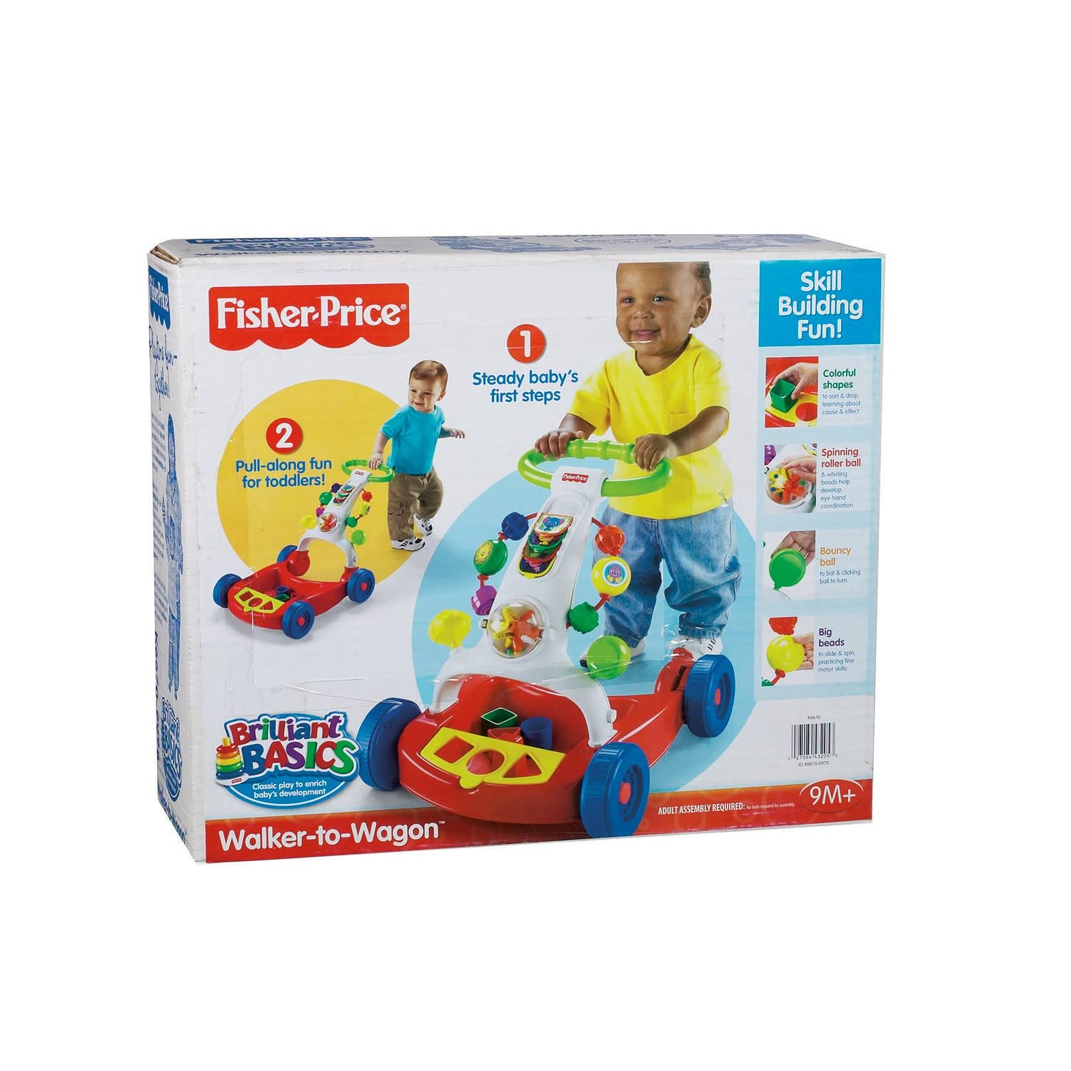 Fisher Price Baby Walker Activity Walker To Wagon Walking Aid New Item K
