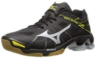 Mizuno Women's Wave Lightning Z WOMS BK-SL Volleyball Shoe, Black/Silver, 6 D US