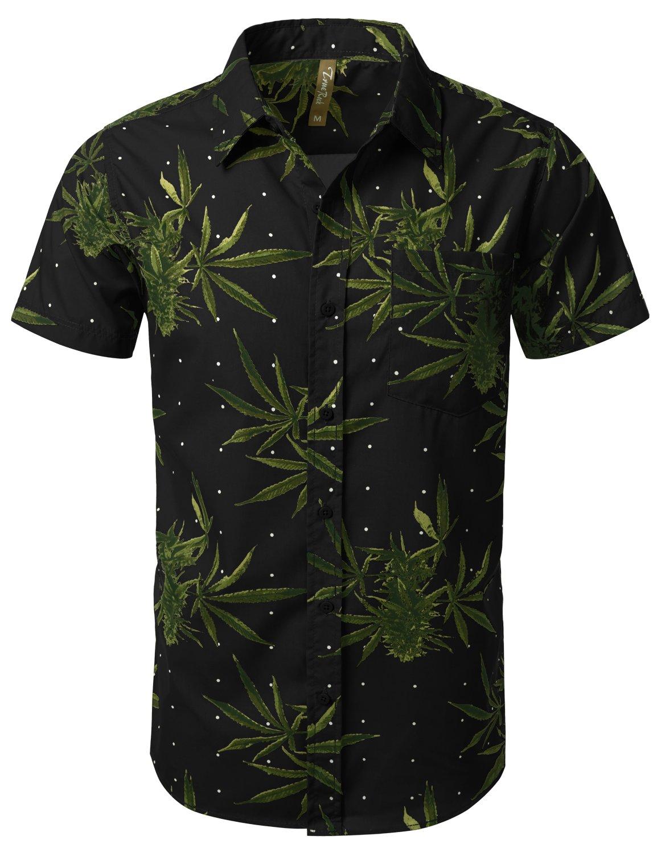 URBANCREWS Mens Hipster Hip Hop Tropical Floral Vacation Shirts- Various Prints