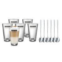 WMF - 12 teiliges Latte macchiato Gläser und Löffel Set