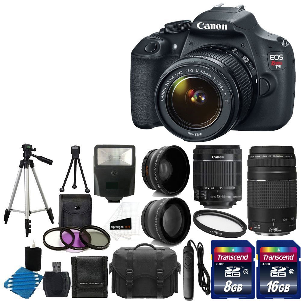 Canon EOS Rebel T5 18MP EF-S Digital SLR Camera USA