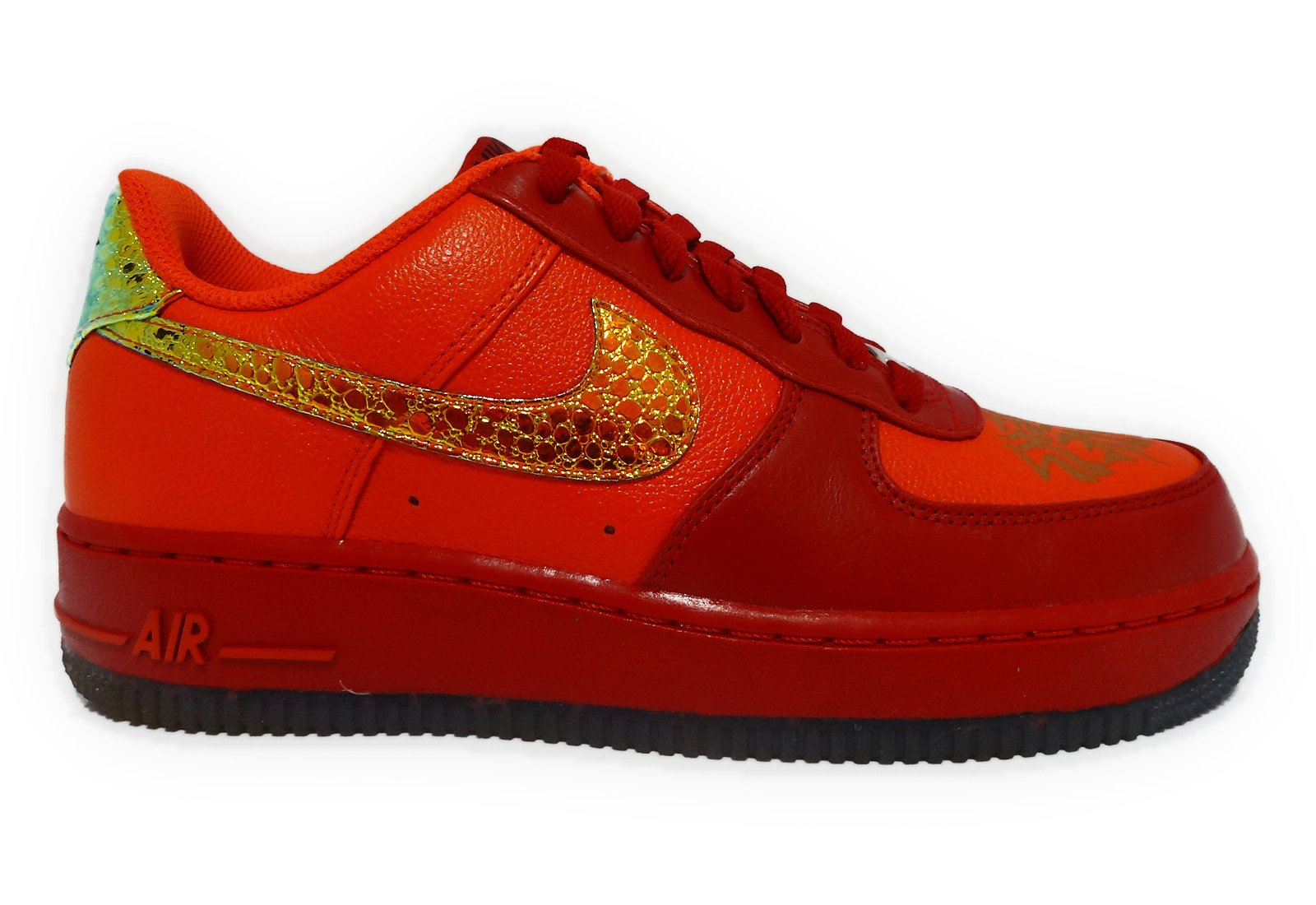 Nike Air Force 1 '07 LE DB Mens Size 7 (Team Orange / Varisty Red) 349440-800