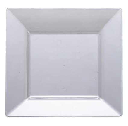 "The Kaya Collection - Clear Plastic Square 8"" Salad Plates - 1 Pack (10 plates)"