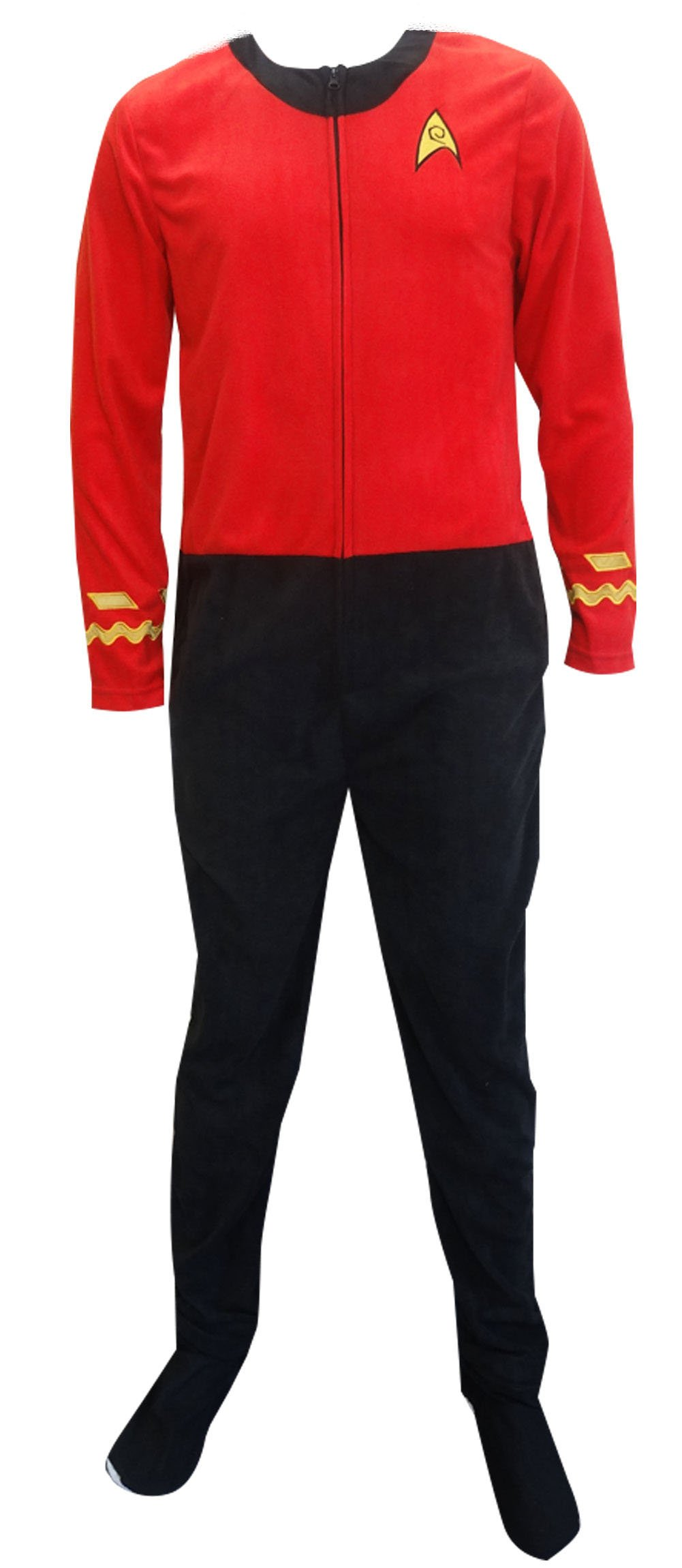 Star Trek Scotty Red Engineering Uniform Onesie Pajama
