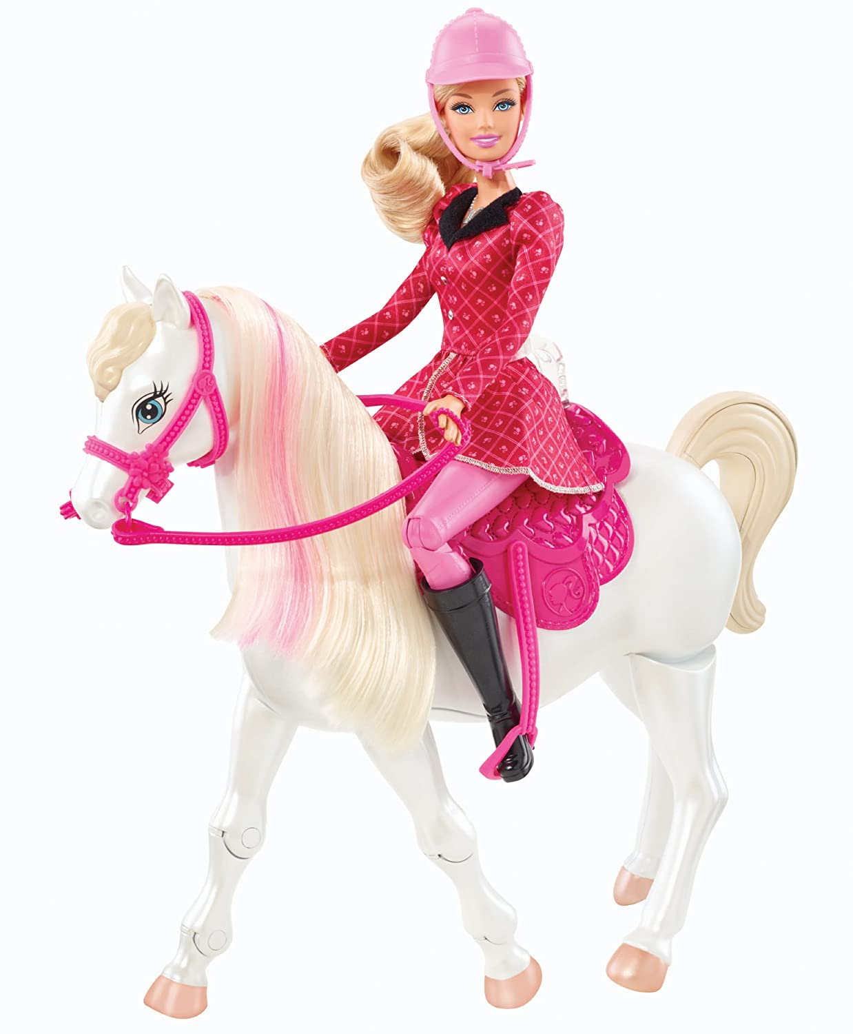 Barbie and Her Sisters in a Pony Tale Train and Ride Horse Playset