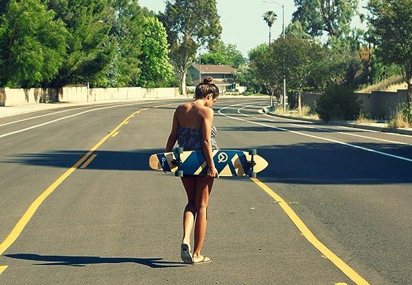 Quest Super Cruiser Artisan Bamboo Longboard Skateboard for beginne