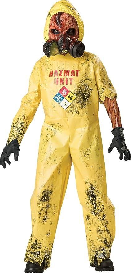 InCharacter Costumes, LLC Boys 8-20 Hazmat Hazard Jumpsuit, Yellow, Medium