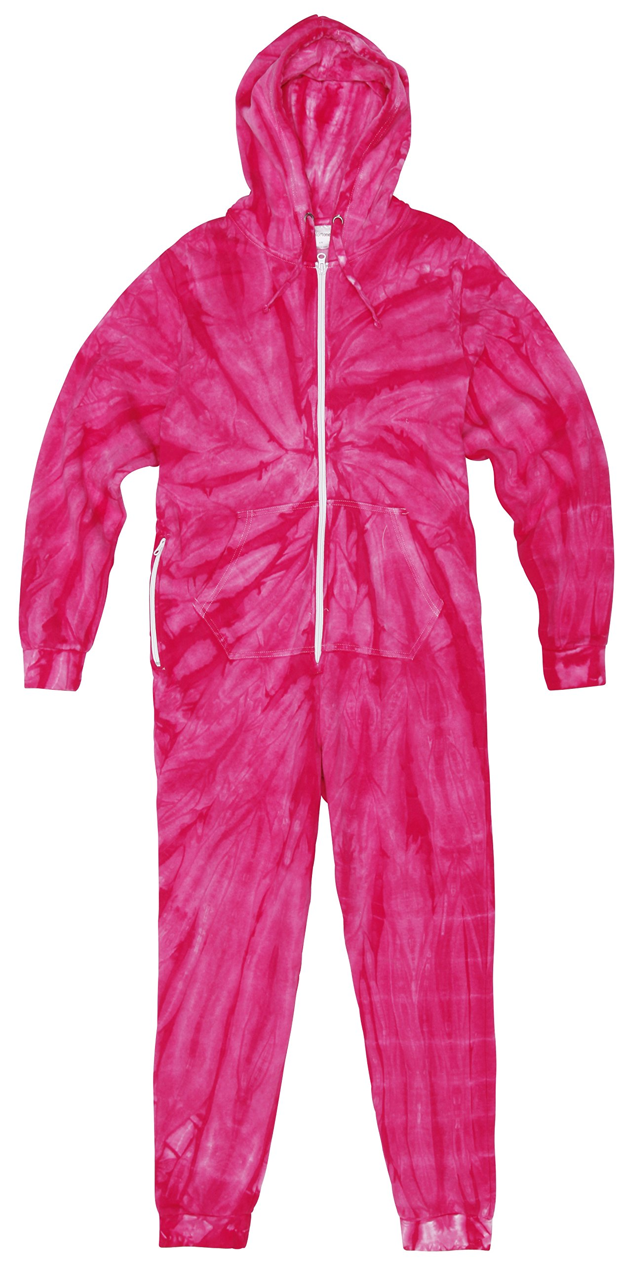 Cotton Front Zip Nightwear Tonal Spider All-In-One Baggy Fit Jumpsuit