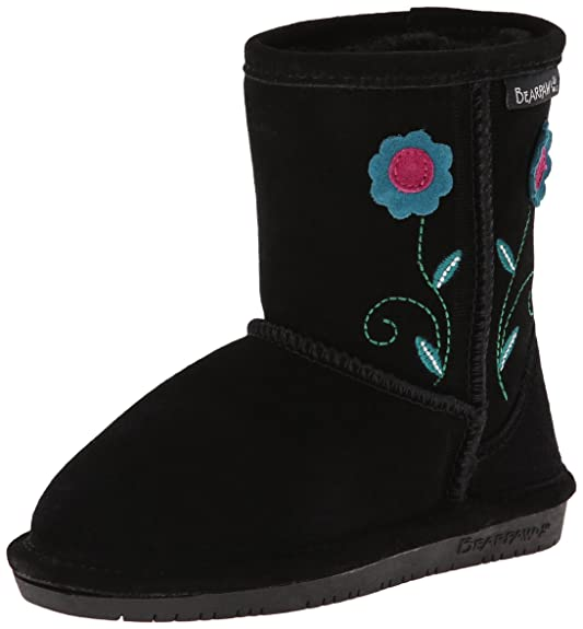 BEARPAW Buttercup Toddler Boot (Toddler/Little Kid),Black,7 M US Toddler
