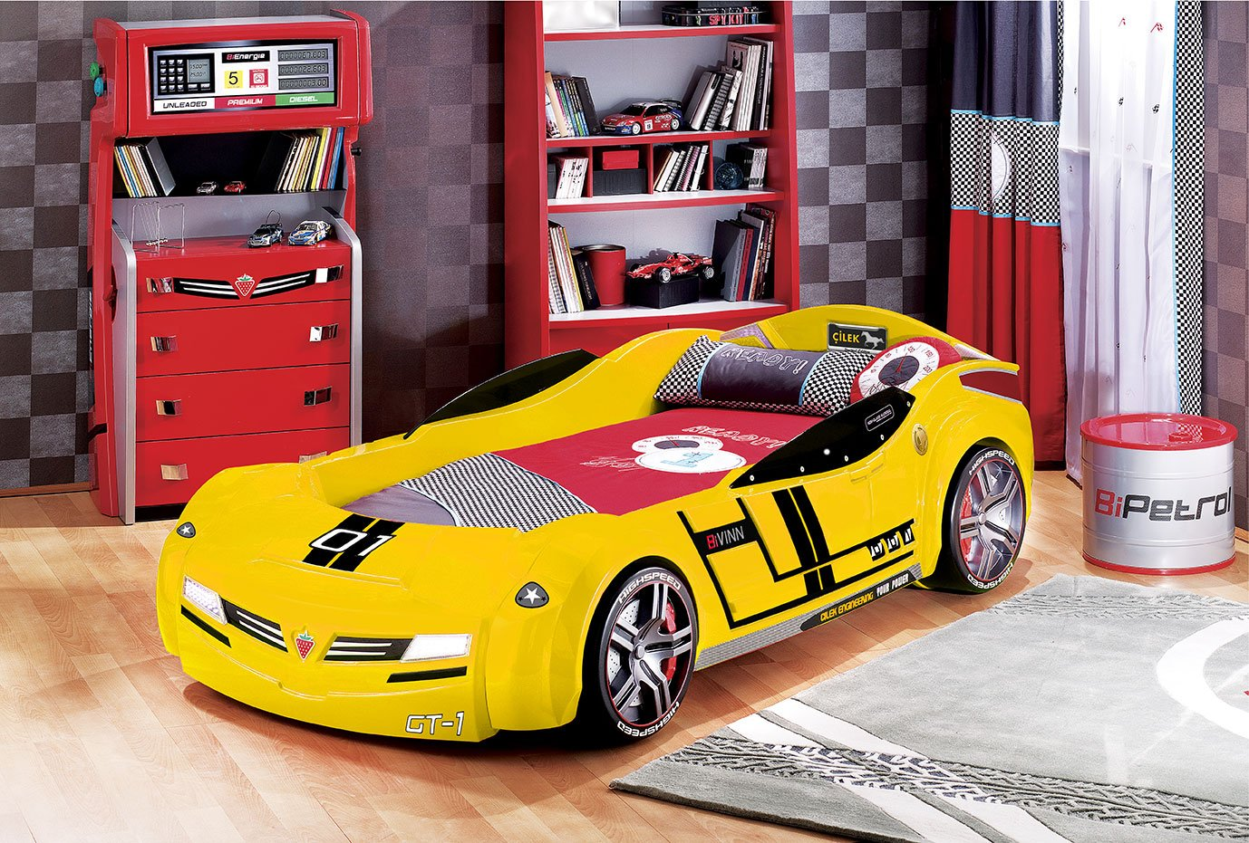Turbo Car Bed - BUMBLE BEE WITH MATTRESS