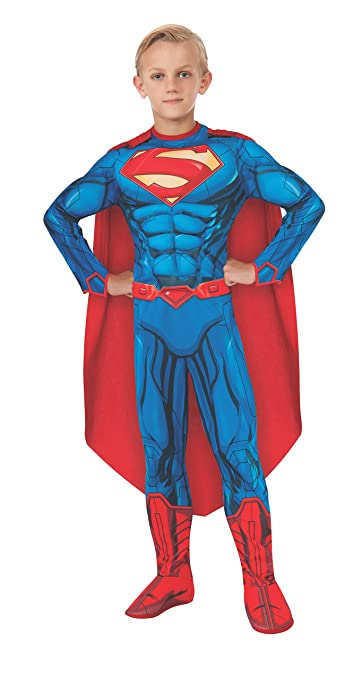 Rubies DC Comics Deluxe Muscle-Chest Superman Costume, Child Large