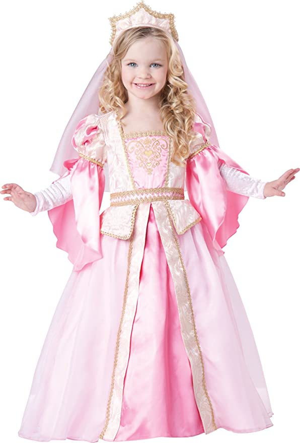 InCharacter Baby Girl's Princess Costume, Pink/Gold, 2T