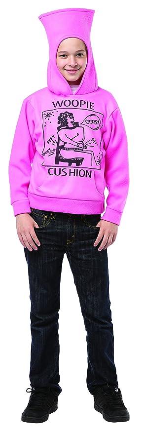 Rasta Imposta Men's Juniors Hoodie Woopie Cushion, Pink/Black, One Size