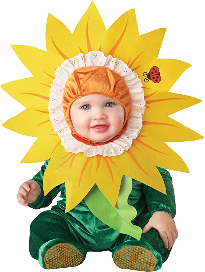 InCharacter Costumes Baby's Silly Sunflower Costume, Yellow/Green, X-Small