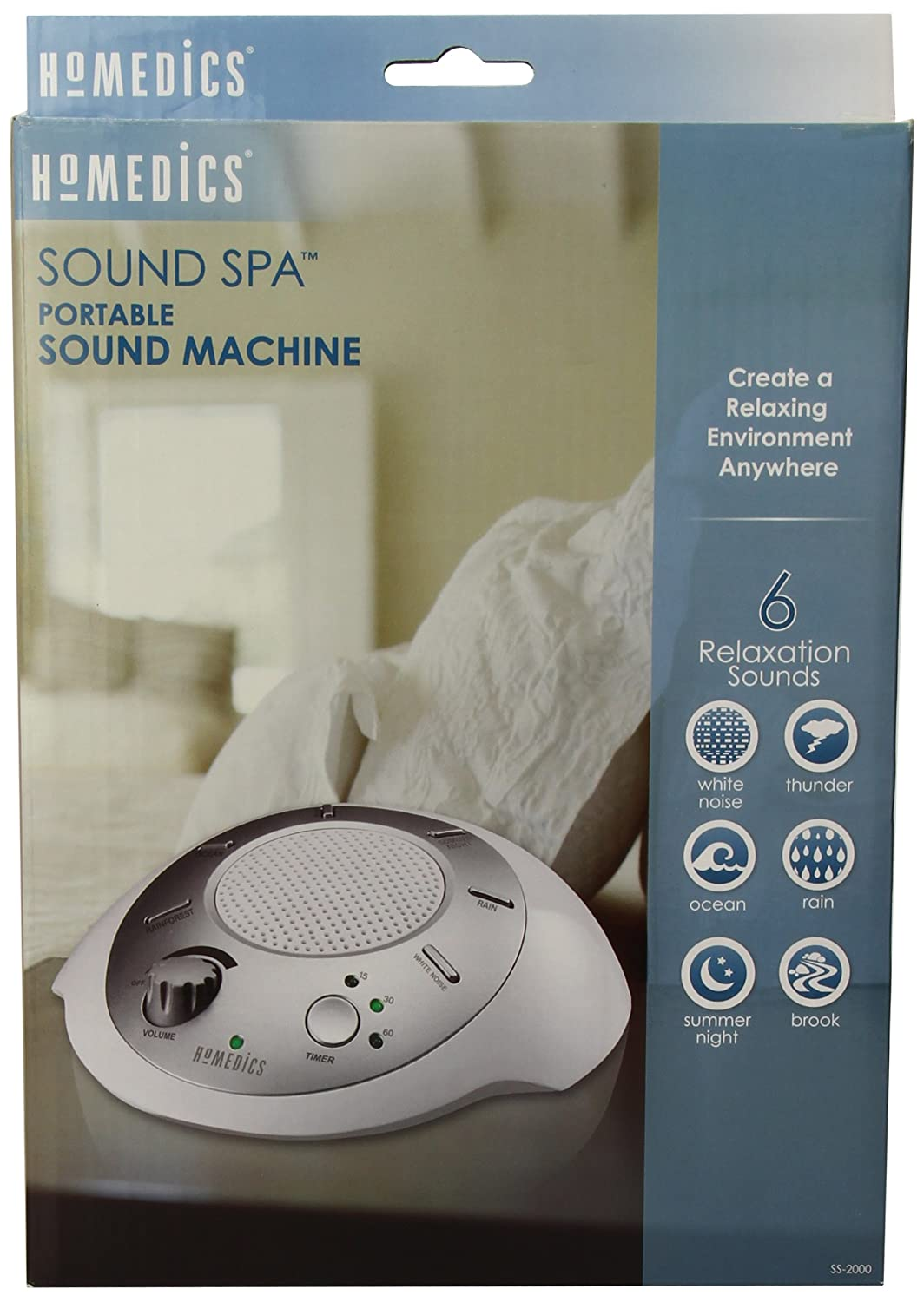 HoMedics SS-2000G/F-AMZ Sound Spa Relaxation Machine