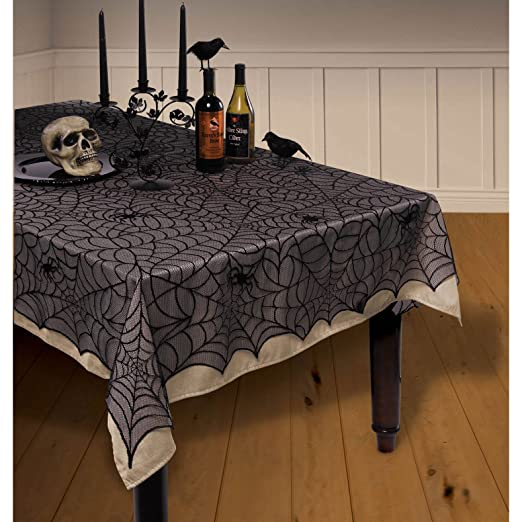 Halloween Spiderweb Lace Tablecover
