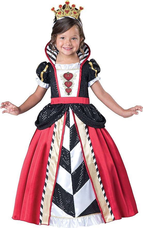 InCharacter Costumes Toddler Queen Of Hearts Costume, Black/Red, Medium