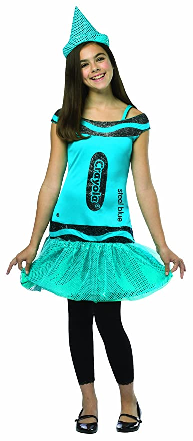 Rasta Imposta Crayola Steel Glitz & Glitter Dress, Blue, Tween 10-12