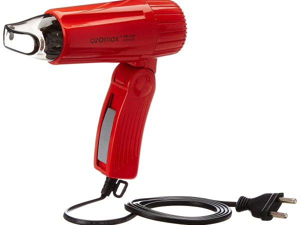 Ozomax Travel Plus 309 Hair Dryer (Red)
