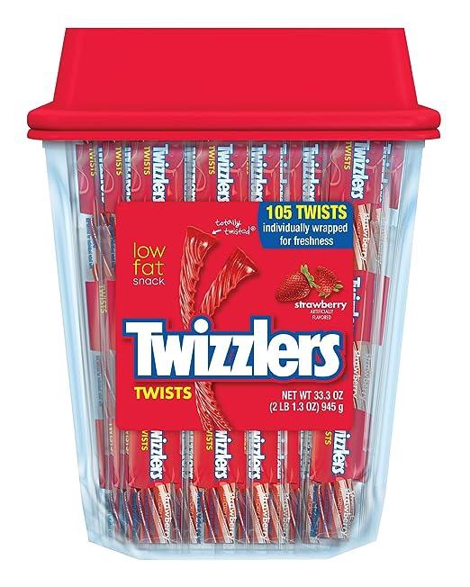 Twizzlers Twists, Strawberry, 105 Count
