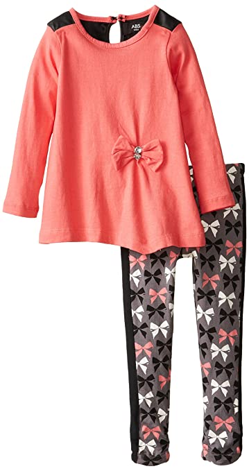 A.B.S. by Allen Schwartz Little Girls' Lily Set, Coral, 3T