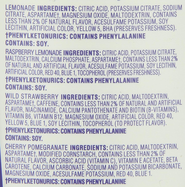 Crystal Light ingredients