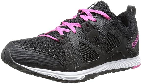 Reebok Women's Train Fast XT Training Shoe, Black/Pink/White, 5 M US