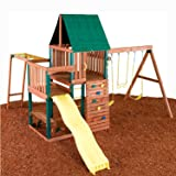 Swing - N - Slide Chesapeake Wood Complete Ready - To Assemble Swing Set Kit