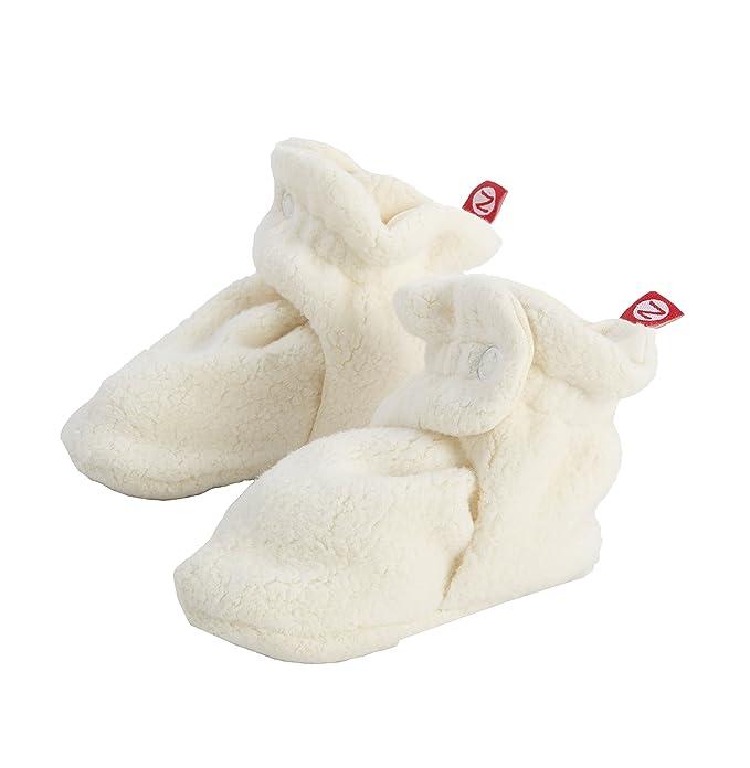 Zutano Newborn Unisex-Baby Fleece Bootie, Cream, 12 Months