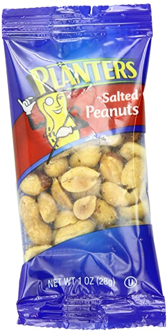 Planters Peanuts, Salted, 1-Ounce Single Serve Packages (Pack of 72)