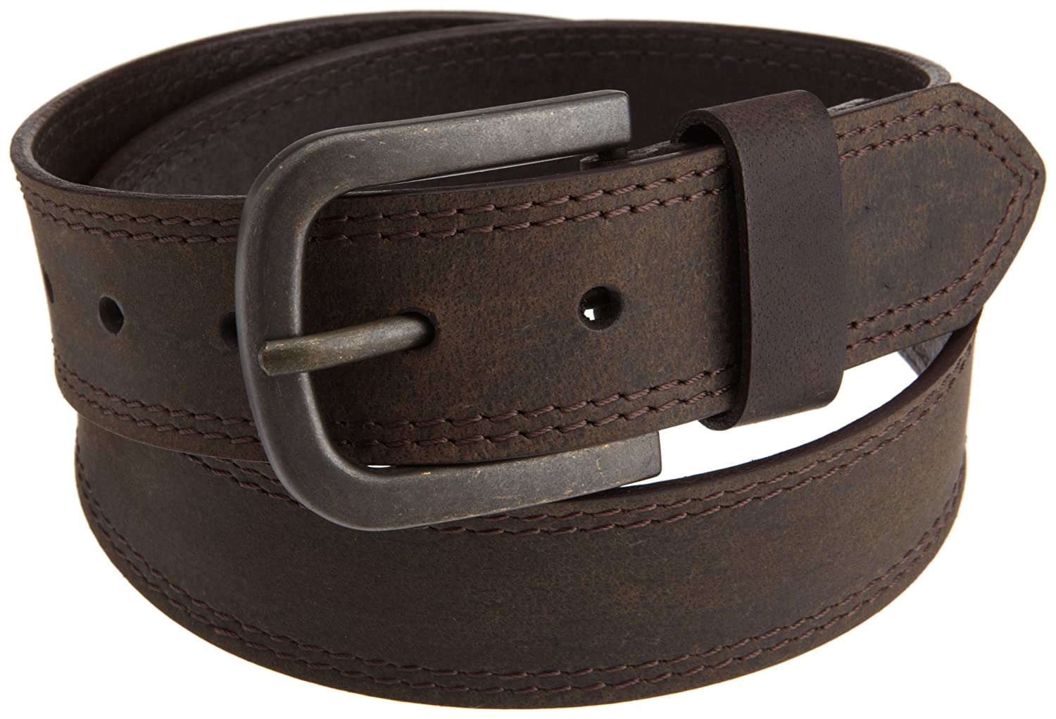 Dickies Mens 38mm Leather Belt With Two Row Stitch