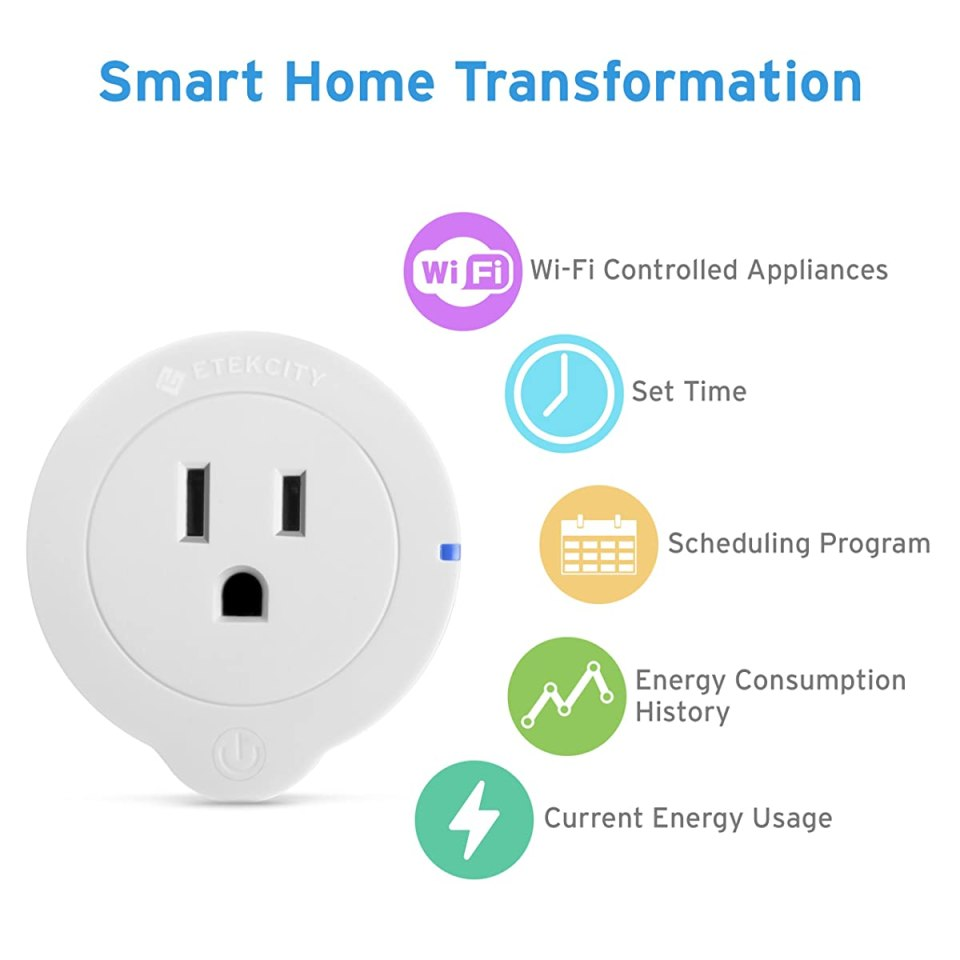 Etekcity 2 Pack Mini Smart Plug Outlet, WiFi Wireless ...