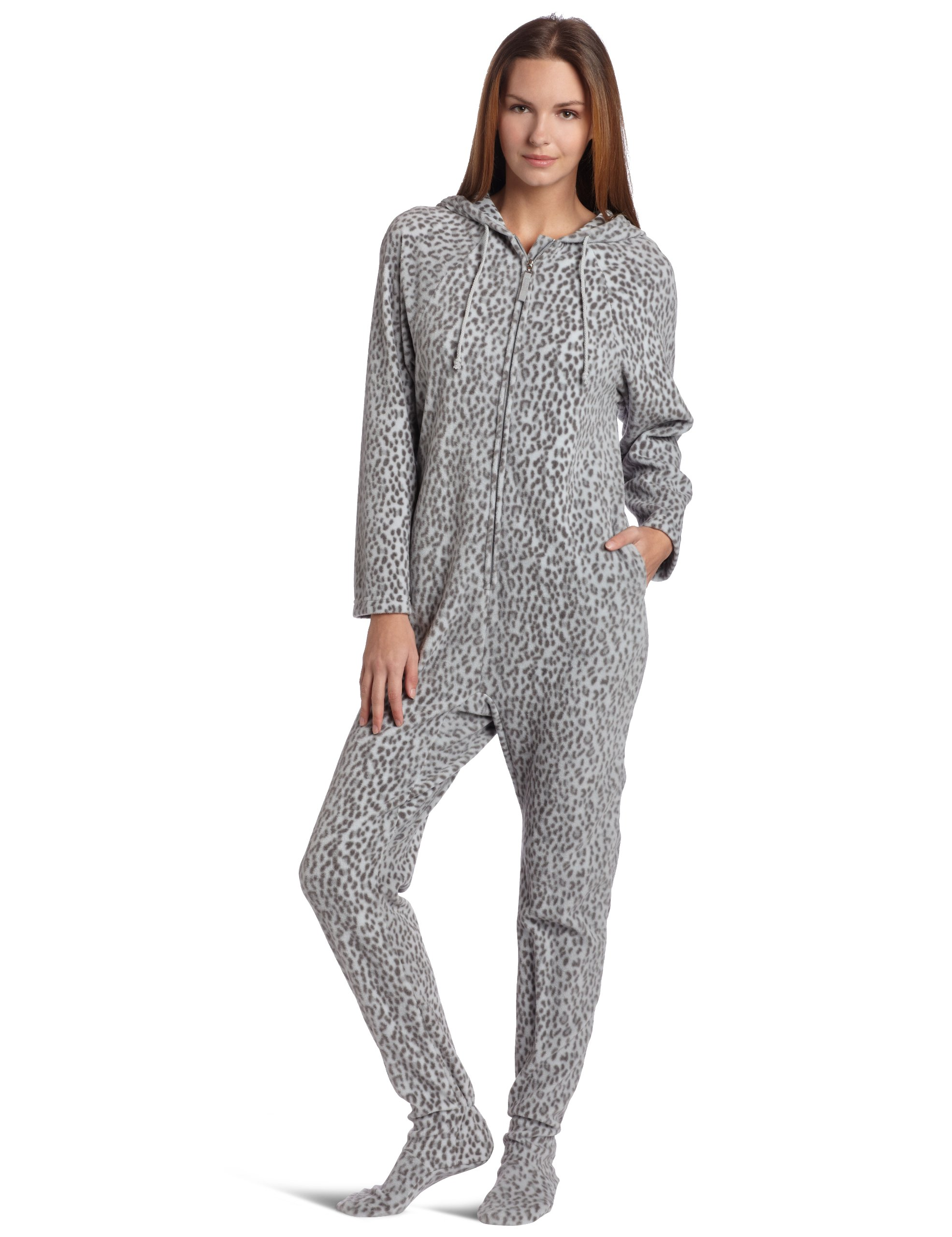 Casual Moments Women's One Piece Footed Pajama