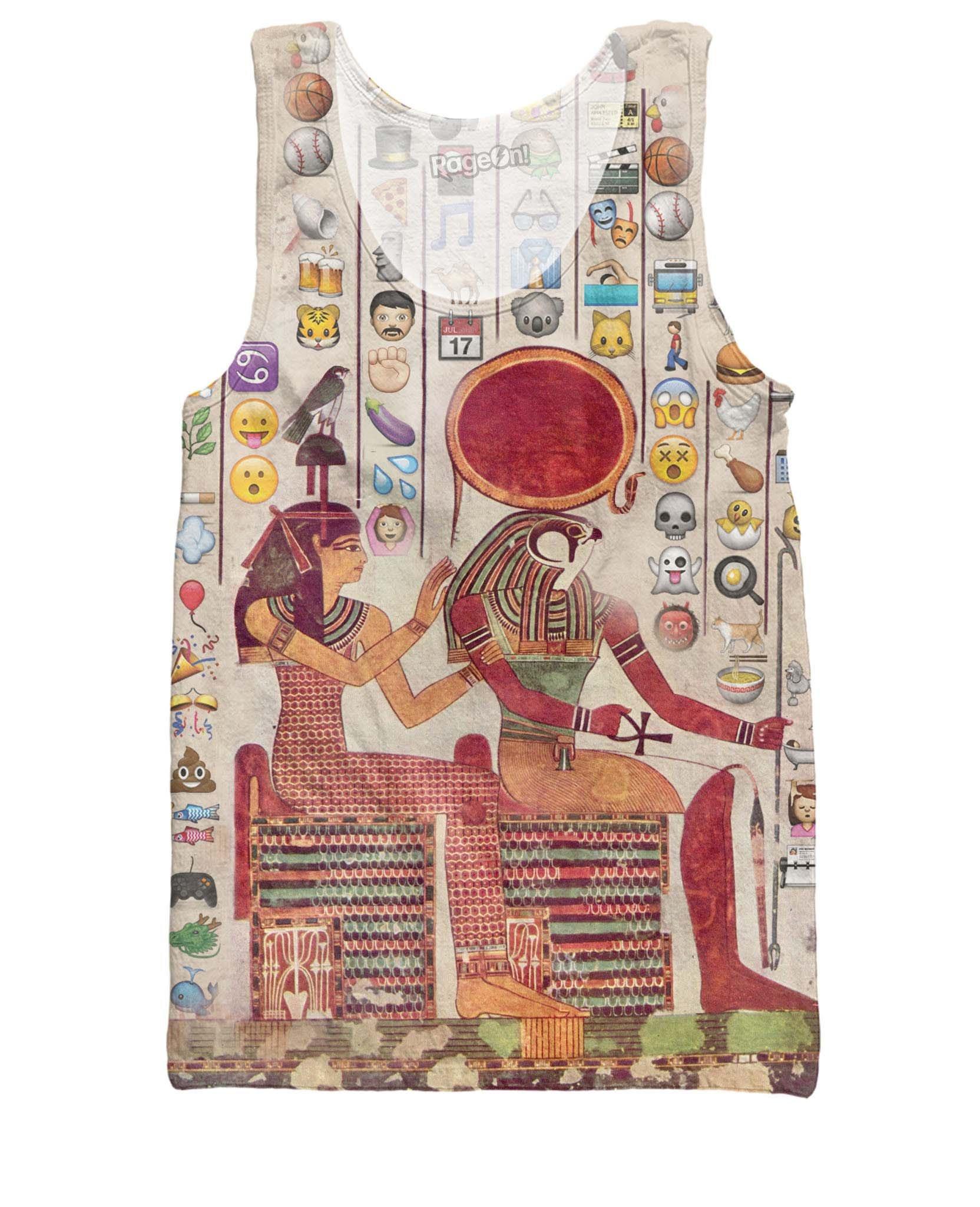 Men's Emoji Hieroglyphics Tank Top