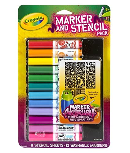 Crayola Girl Airbrush Marker and Stencil Pack