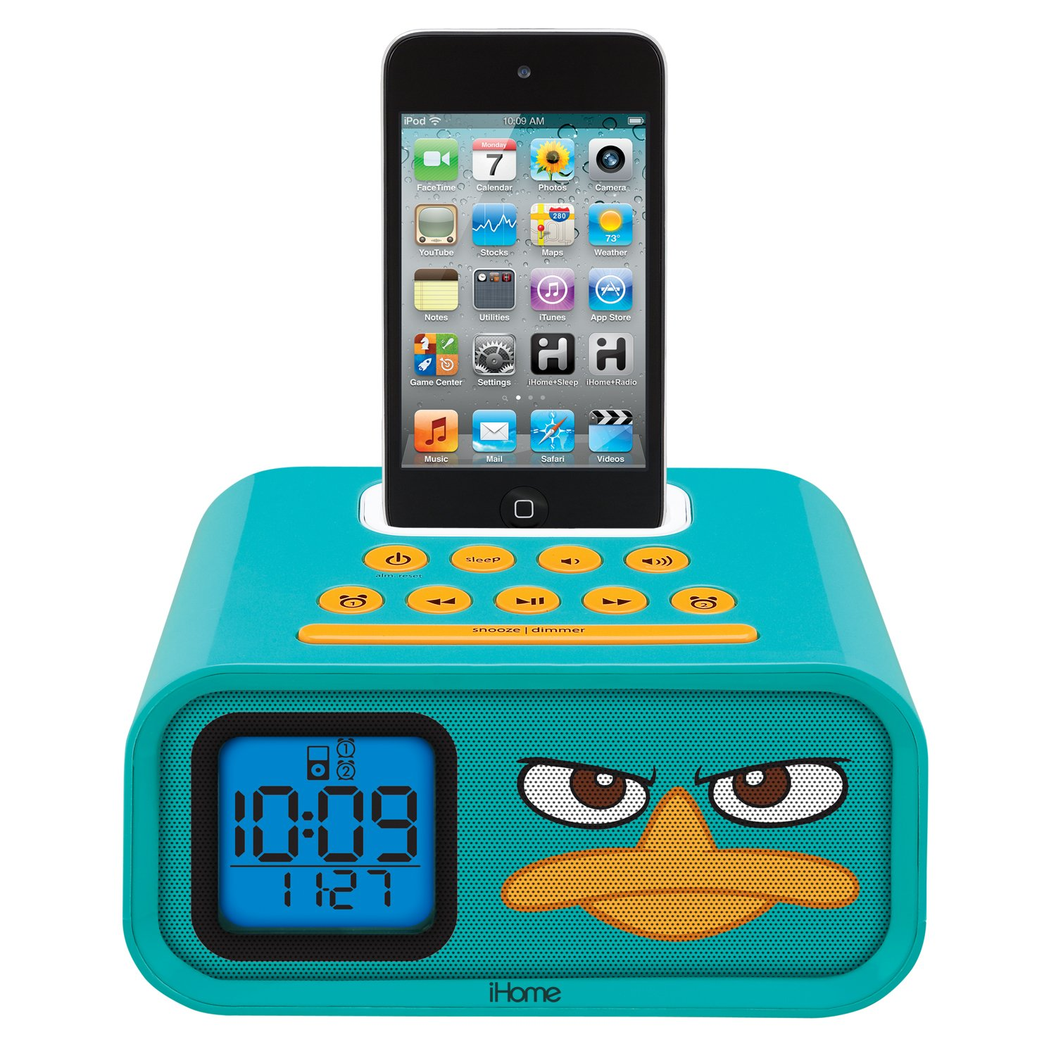 Phineas and Ferb Agent P Dual Alarm Clock and iPod Speaker Dock