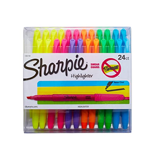 Sharpie Accent Pocket Style Highlighters, Colored, 24 Highlighters (1761791)