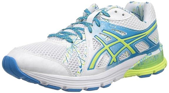 ASICS Women's Gel-Preleus Running Shoe,White/Sharp Green/Blue,11 M US