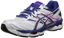 ASICS Women's Gel-Cumulus 16 Running Shoe,White/Black/Hot Pink,5.5 M US