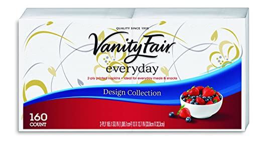 Vanity Fair Everyday Design Collection Napkins, 480 Count