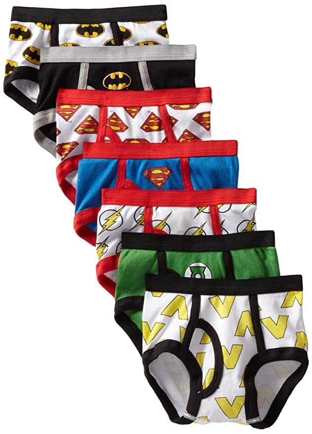 4983ffaaeb0b Handcraft Little Boys' Justice League Logo Brief (Pack of 7), Assorted,